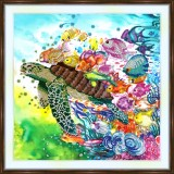 Bead embroidery kit «A-0372 Turtle 'n Friends»