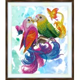 Bead embroidery kit «A-0382 Parakeet Meeting»