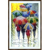 Bead embroidery kit «A-0402 Umbrellas on Parade»