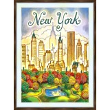 Bead embroidery kit «A-0432 New York»