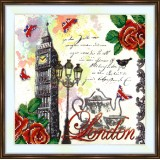 Bead embroidery kit «A-0466 Quintessential London»
