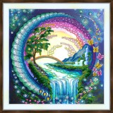 Bead embroidery kit «A-0506 Waterfall Dreams»