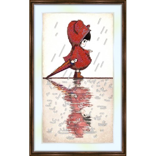 Bead embroidery kit «K-0020 Reflection in the Rain»