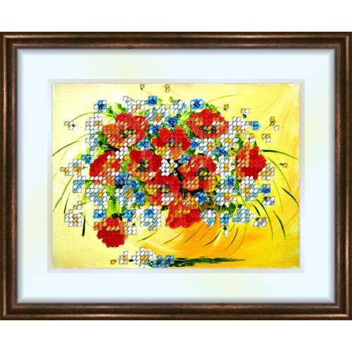 Bead embroidery kit «K-0070 Wildflowers 2»
