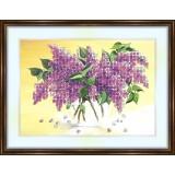 Bead embroidery kit «K-0090 Lilacs Galore»