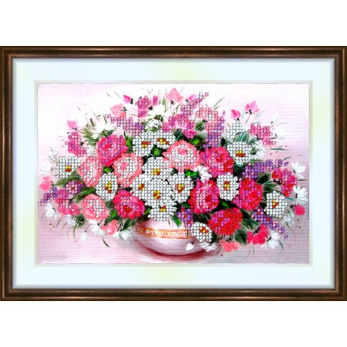 Bead embroidery kit «K-0110 Wildflower Composition»