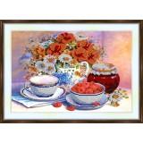 Bead embroidery kit «K-0120 Raspberries 'n Honey»