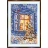 Bead embroidery kit «K-0140 Window Wonderland Watcher»