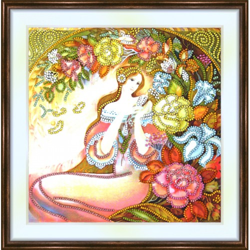 Bead embroidery kit «K-0161 Arch of Flowers»