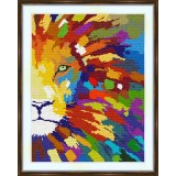 Cross stitch kit «S-0017 Rainbow Lion»