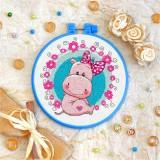 Cross stitch kit «T-0026 Miss Hippo»