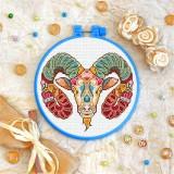 Cross stitch kit «T-0159 Mandala Aries»
