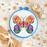 Cross stitch kit «T-0181 Mandala Butterfly»