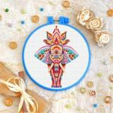 Cross stitch kit «T-0202 Mandala Indian Elephant»
