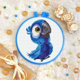 Cross stitch kit «T-0225 Blue Parrot»