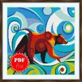 Cross stitch pattern «pdf-S-0001 Stylized Bear»
