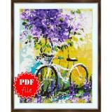 Cross stitch pattern «pdf-S-0011 Lilac Flowers»