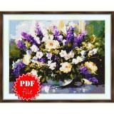Cross stitch pattern «pdf-S-0032 Wildflowers»
