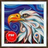 Cross stitch pattern «pdf-S-0042 Stylized Eagle»