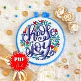 Cross stitch pattern «pdf-T-0021 Choose Joy 1»