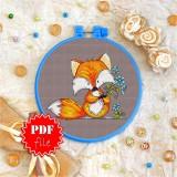 Cross stitch pattern «pdf-T-0031 Foxie Lad»