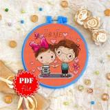 Cross stitch pattern «pdf-T-0041 U &Me»