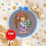 Cross stitch pattern «pdf-T-0061 Lilac Love»