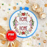 Cross stitch pattern «pdf-T-0071 Home Sweet Home 2»