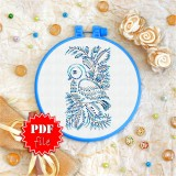 Cross stitch pattern «pdf-T-0091 Blue Birdie»