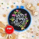 Cross stitch pattern «pdf-T-0131 Happy Spring»