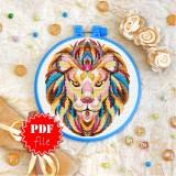 Cross stitch pattern «pdf-T-0151 Mandala Lion»