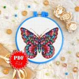 Cross stitch pattern «pdf-T-0161 Butterfly»