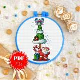 Cross stitch pattern «pdf-T-0166 Little Santa»