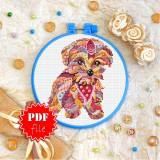 Cross stitch pattern «pdf-T-0204 Mandala Terrier»
