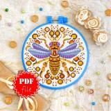 Cross stitch pattern «pdf-T-0215 Mandala Bee»