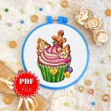 Cross stitch pattern «pdf-T-0270 Cake»