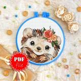 Cross stitch pattern «pdf-T-0281 Little Hedgehog»