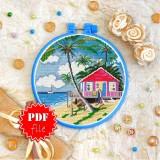 Cross stitch pattern «pdf-T-0318 Beach House»
