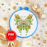Cross stitch pattern «pdf-T-0339 Butterfly»