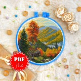 Cross stitch pattern «pdf-T-0400 Mountain View»