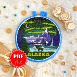 Cross stitch pattern «pdf-T-0410 Alaska»