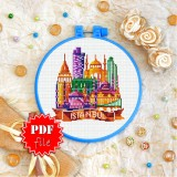 Cross stitch pattern «pdf-T-0440 Istanbul»