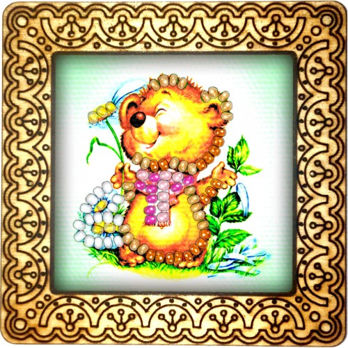 Magnet bead embroidery kit «M-0049 Bear Delight»