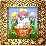 Magnet bead embroidery kit «M-0079 Easter Basket Bunny»