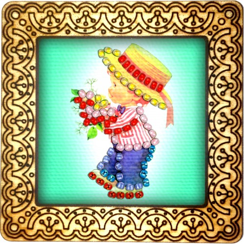 Magnet bead embroidery kit «M-0139 Summer Stroll»