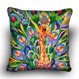 Pillow cross stitch kit «H-0006 Proud Peacock»