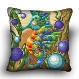 Pillow cross stitch kit «H-0016 Winged Seahorse»