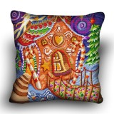 Pillow cross stitch kit «H-0026 Gingerbread Cottage»
