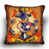 Pillow cross stitch kit «H-0036 Sea Wolf Donald»